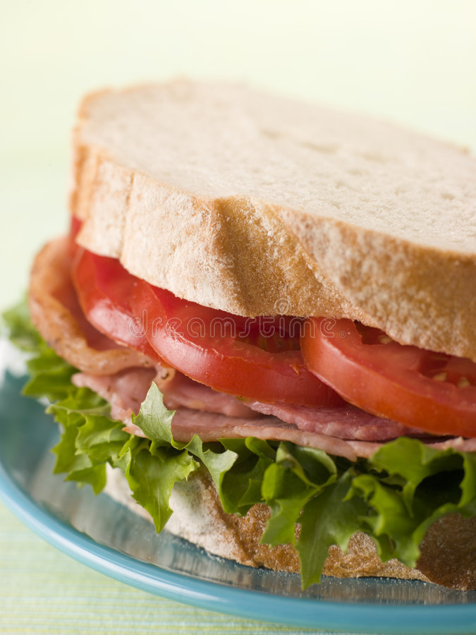 Free BLT On White Bread Stock Photography - 5628892