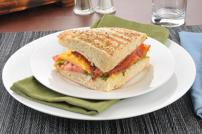 BLT-panini arkivfoto