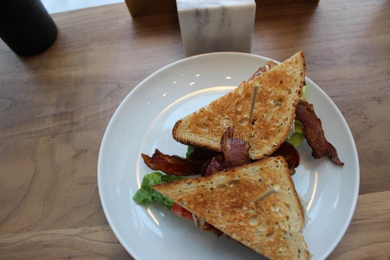 Blt-Sandwich lizenzfreie stockbilder