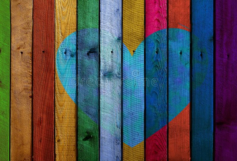 Blu, arte moderna, legno, struttura immagine stock