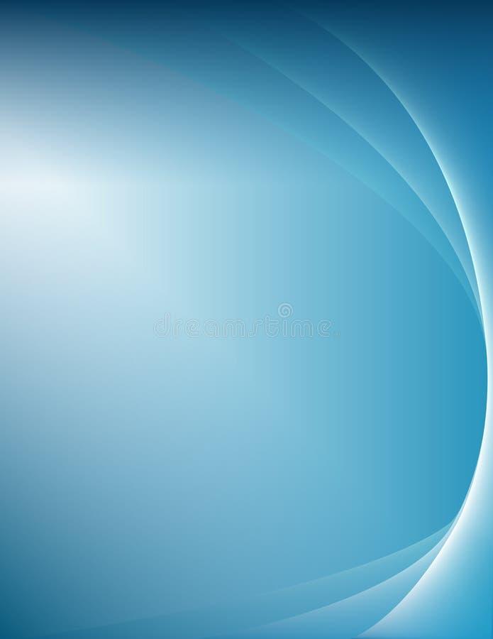Blu astratto del fondo Acqua profondità Affare Inverno neve fotografia stock