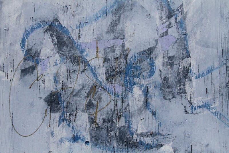 Blu astratto di struttura dei graffiti fotografia stock