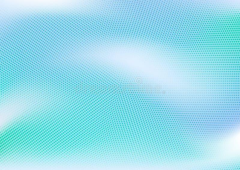 Blu astratto punteggiato e fondo di pendenza royalty illustrazione gratis