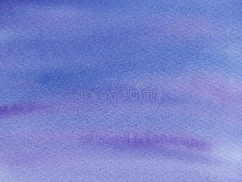 blu bagnato dell'acquerello dell'estratto e fondo porpora Lavaggio dell'acquerello con ombre royalty illustrazione gratis