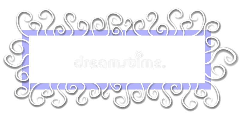 Pagina Web Logo White Blue fotografia stock