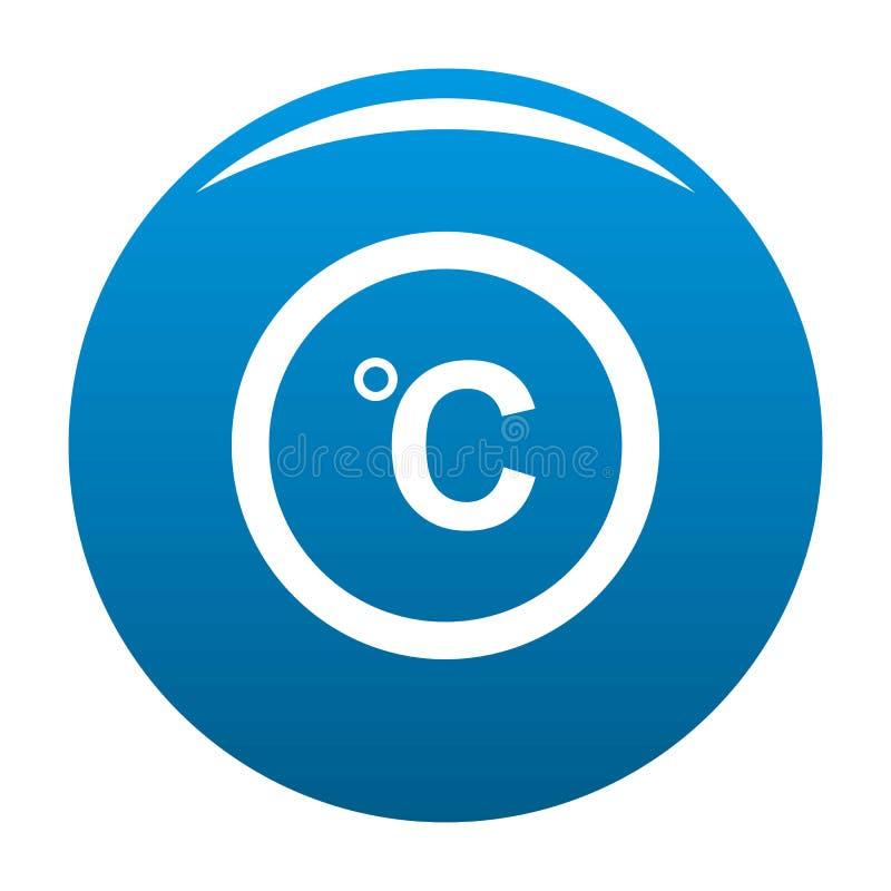Blu centigrado dell'icona royalty illustrazione gratis