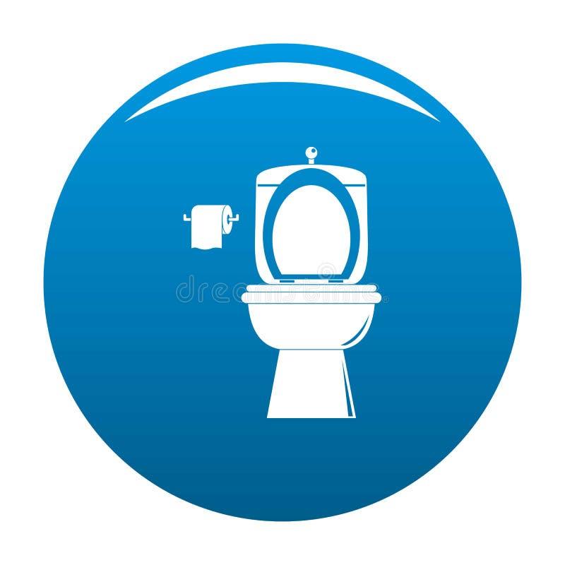 Blu ceramico di vettore dell'icona della toilette illustrazione vettoriale