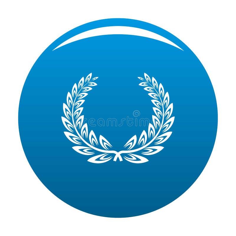 Blu certificato di vettore dell'icona della corona illustrazione vettoriale