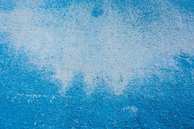Blu consumi la struttura del calcestruzzo della pittura della macchia fotografia stock