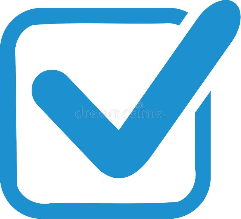 Blu controlli la scatola illustrazione di stock