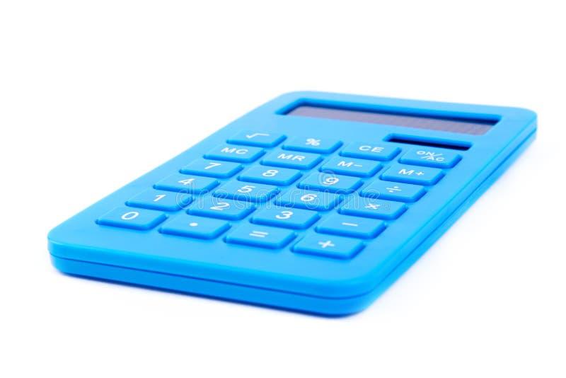 Blu del calcolatore su bianco fotografia stock libera da diritti