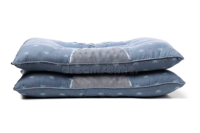 Blu del cuscino immagine stock