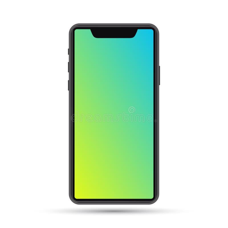 Blu del modello del telefono cellulare illustrazione di stock