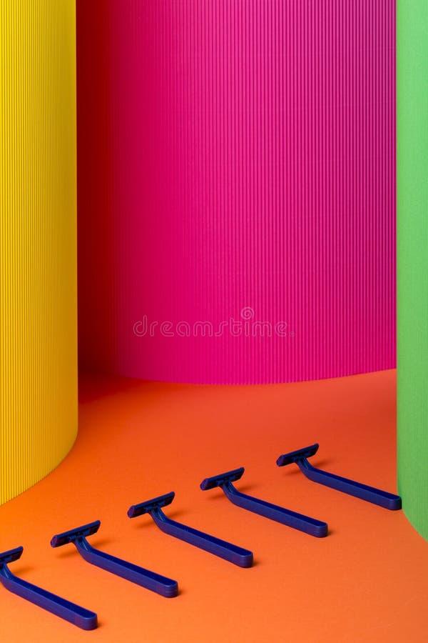 Blu del rasoio su fondo astratto immagini stock libere da diritti