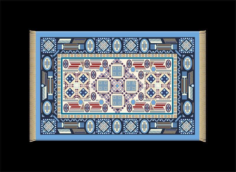 Blu del tappeto illustrazione di stock