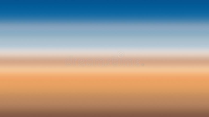 Blu dell'estratto di orizzonte del fondo dell'oceano, mare futuristico illustrazione di stock