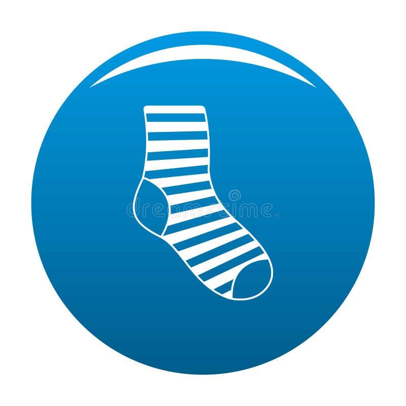 Blu dell'icona del calzino della donna illustrazione di stock