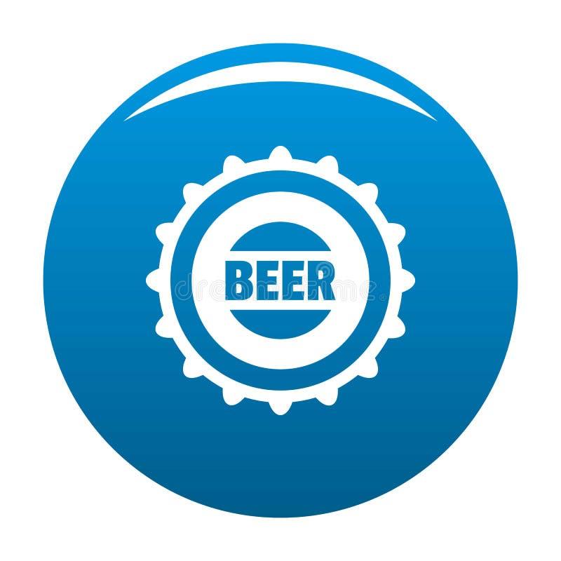 Blu dell'icona del cappuccio della birra illustrazione vettoriale
