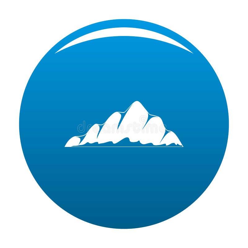 Blu dell'icona del paesaggio della montagna royalty illustrazione gratis