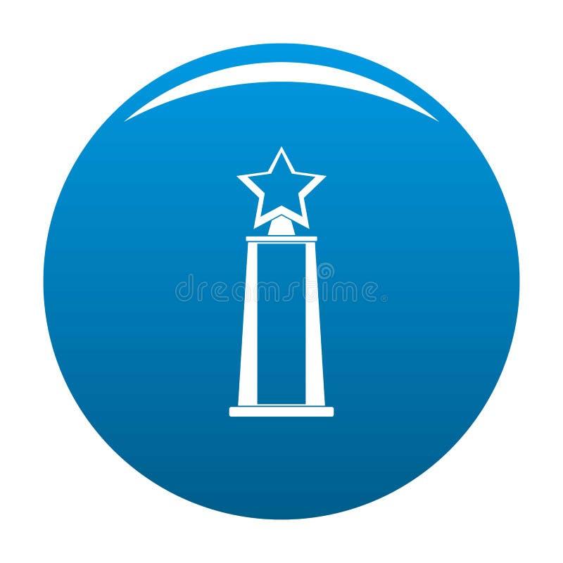 Blu dell'icona del premio della stella royalty illustrazione gratis