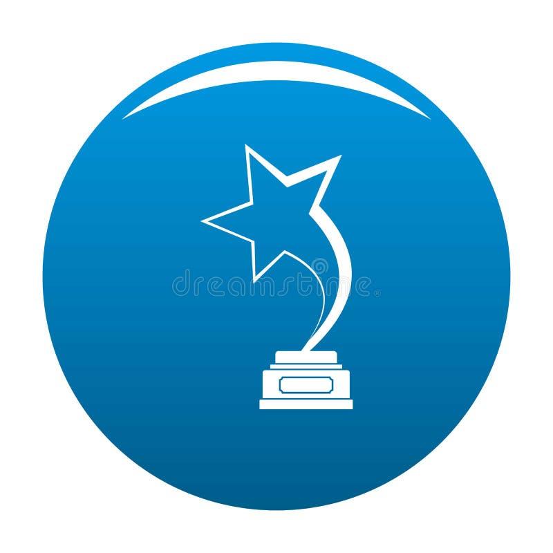 Blu dell'icona del premio della stella illustrazione di stock