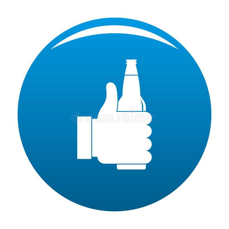 Blu dell'icona della birra royalty illustrazione gratis
