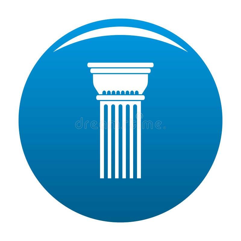 Blu dell'icona della colonna della costruzione royalty illustrazione gratis