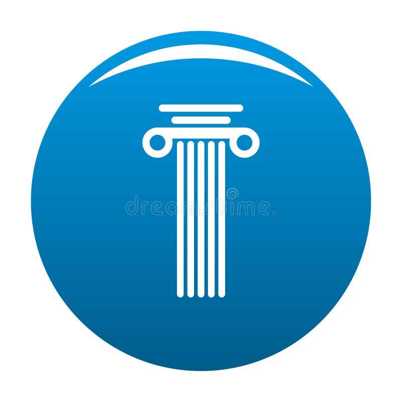 Blu dell'icona della colonna quadrata illustrazione vettoriale