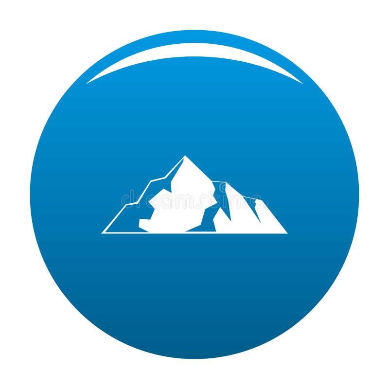 Blu dell'icona della montagna di ghiaccio royalty illustrazione gratis