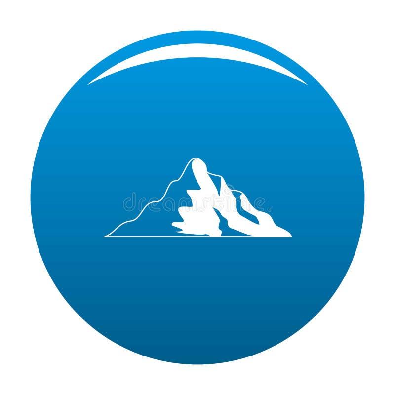 Blu dell'icona della montagna della neve illustrazione vettoriale