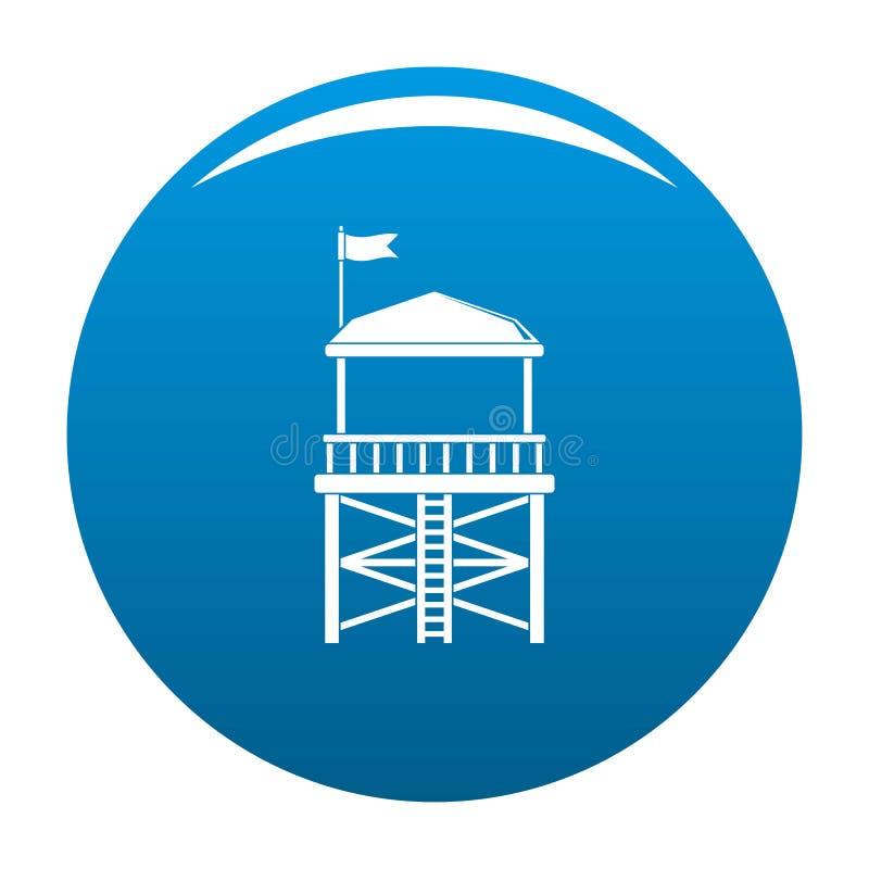 Blu dell'icona della torre di salvataggio illustrazione di stock