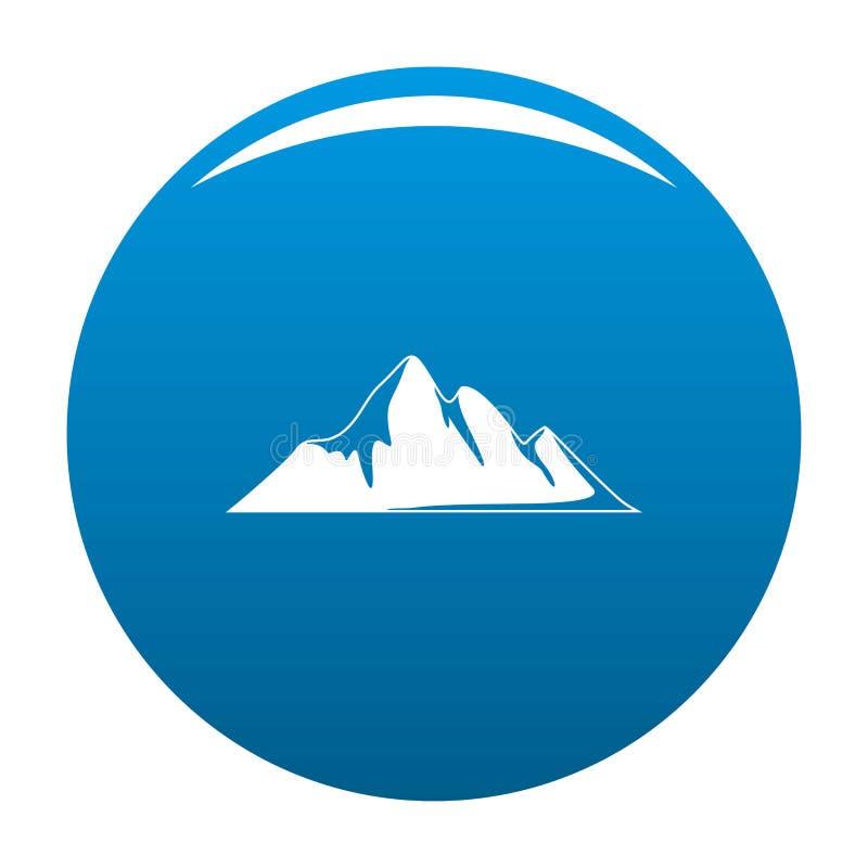 Blu dell'icona di avventura della montagna illustrazione di stock
