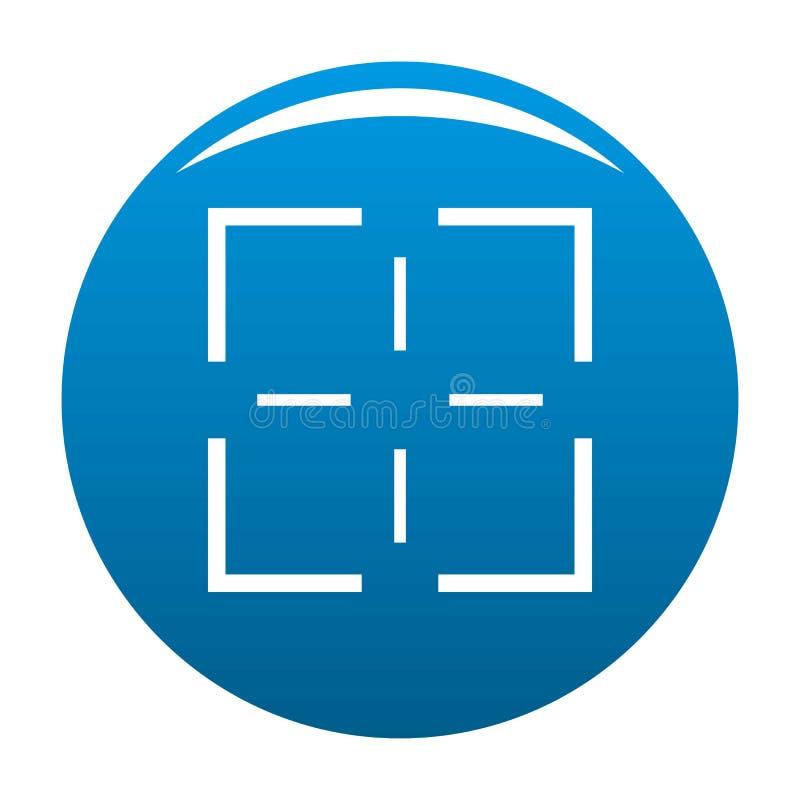 Blu dell'icona di missione illustrazione di stock
