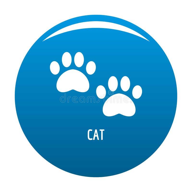 Blu dell'icona di punto del gatto illustrazione vettoriale