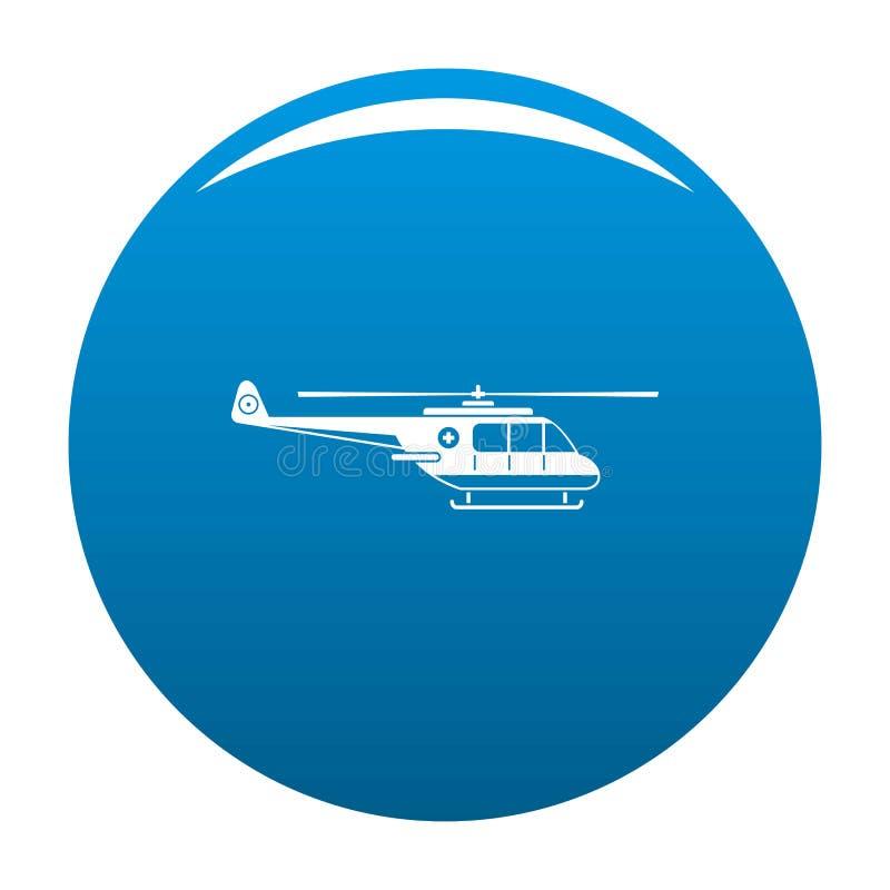 Blu dell'icona dell'elicottero illustrazione di stock