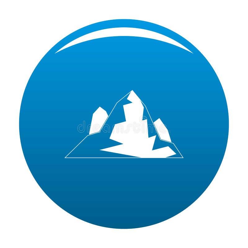 Blu dell'icona dell'iceberg illustrazione di stock