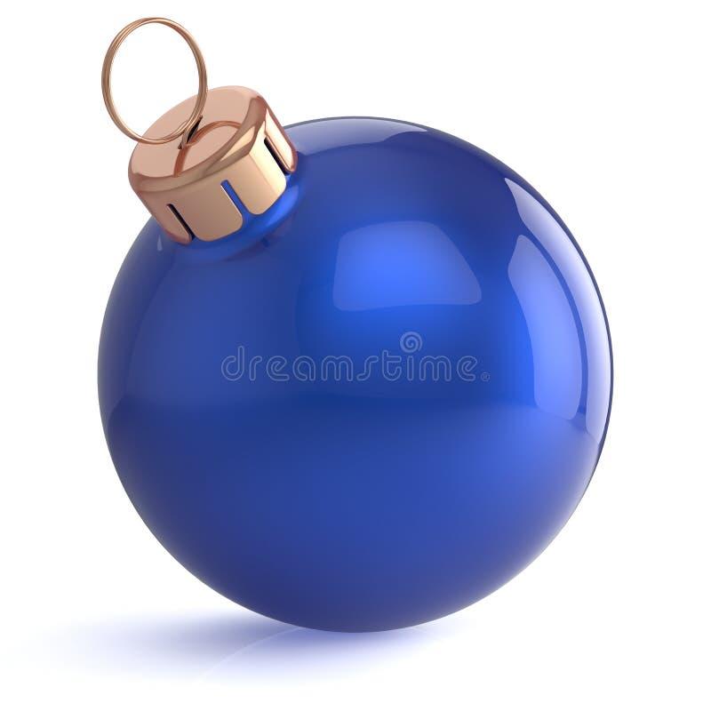 Blu della decorazione dell'ornamento di EVE dei nuovi anni della palla di Natale illustrazione vettoriale