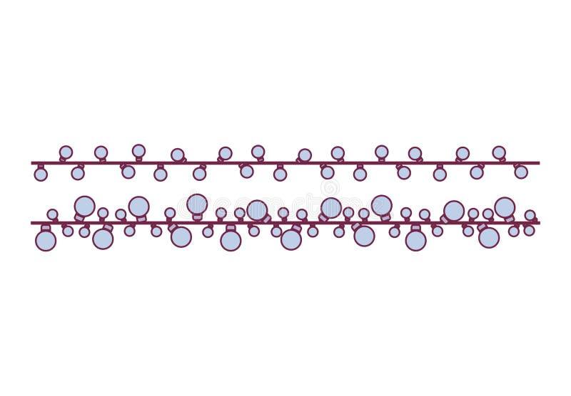 Blu della sfera della lampadina del cavo di estensione di colore pastello royalty illustrazione gratis