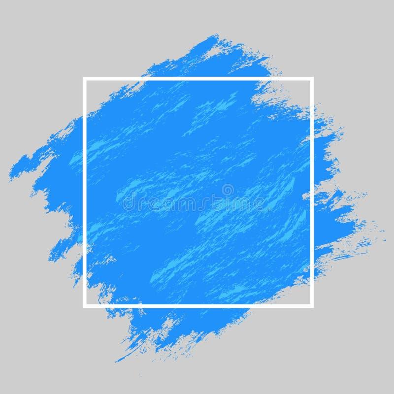 Blu della struttura e della pittura illustrazione vettoriale