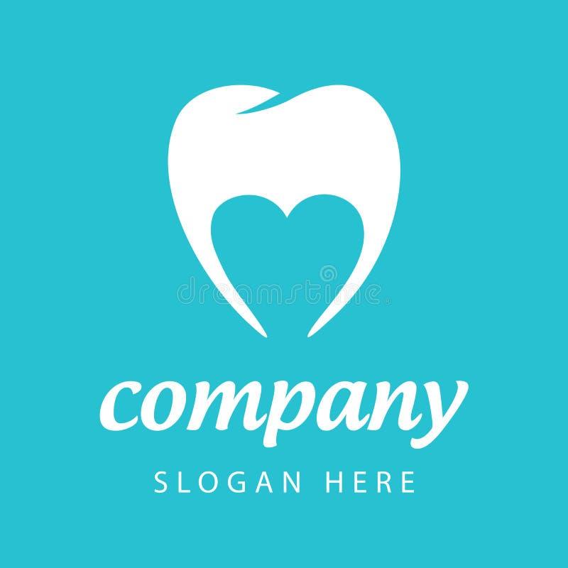 Società dentaria di logo di vettore illustrazione vettoriale