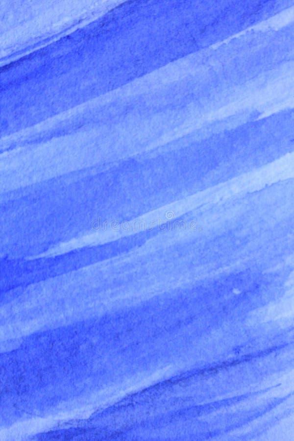Blu di cobalto Hue Watercolor Background 1 immagini stock libere da diritti