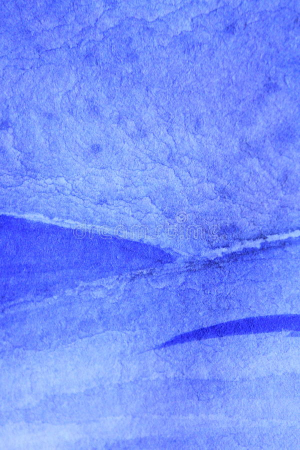 Blu di cobalto Hue Watercolor Background 6 fotografie stock