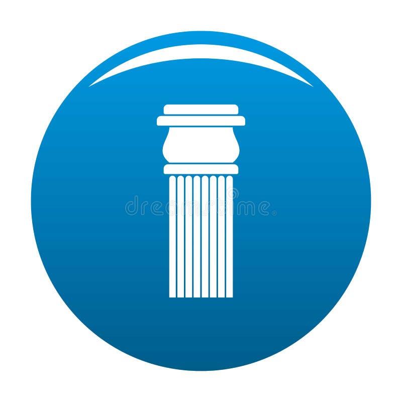 Blu di pietra dell'icona della colonna royalty illustrazione gratis