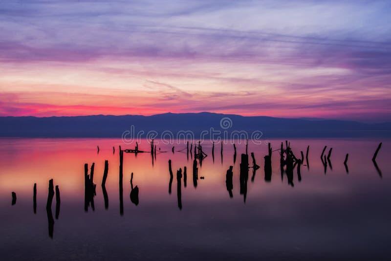Blu di tramonto fotografia stock
