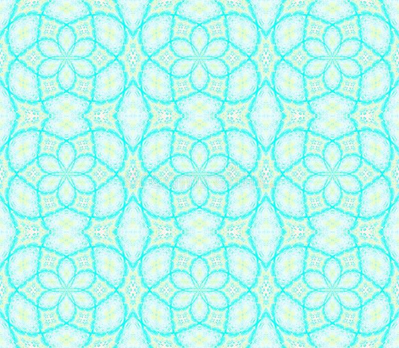 Blu di turchese senza cuciture del modello degli ellissi illustrazione di stock