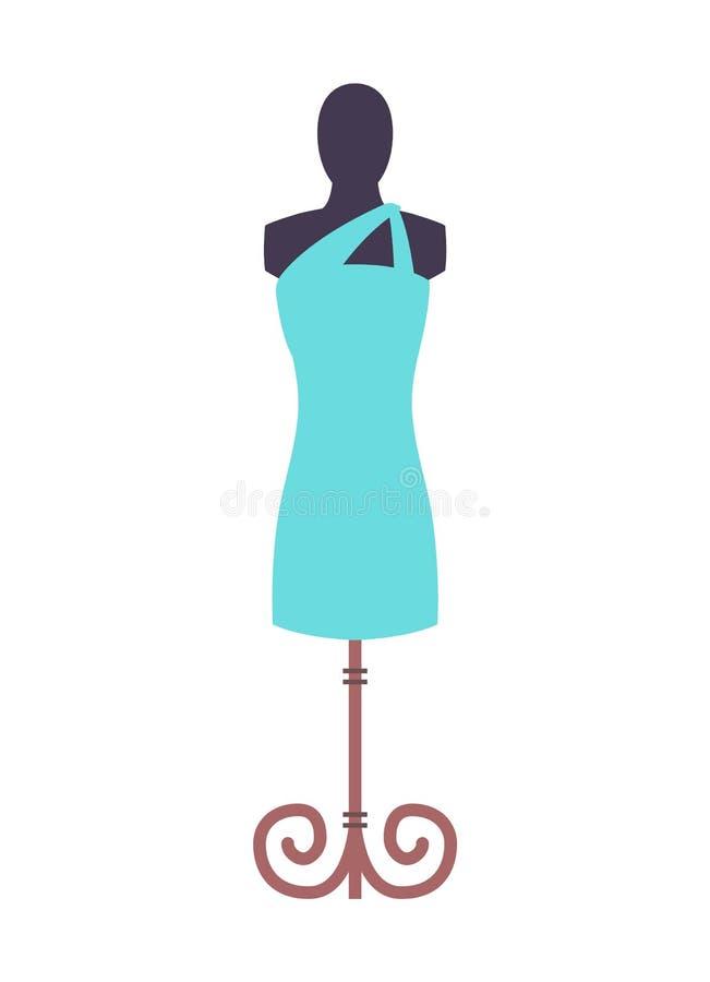 Blu di vestito e manichino, illustrazione di vettore illustrazione vettoriale