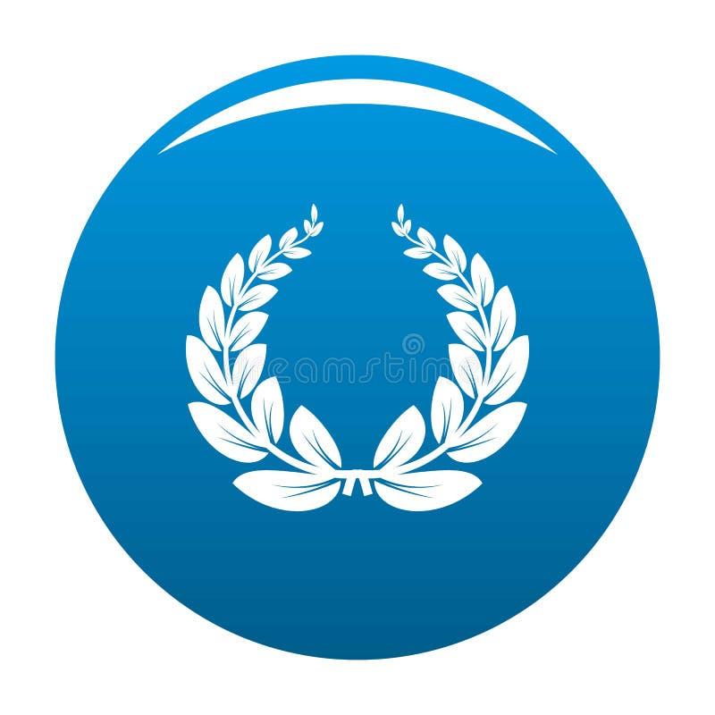 Blu di vettore dell'icona della corona della foglia royalty illustrazione gratis