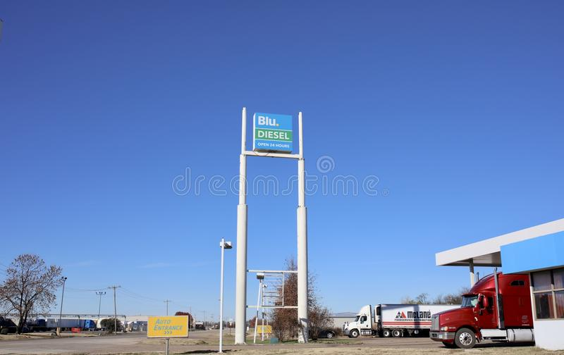 Blu Diesel Gas Company photographie stock