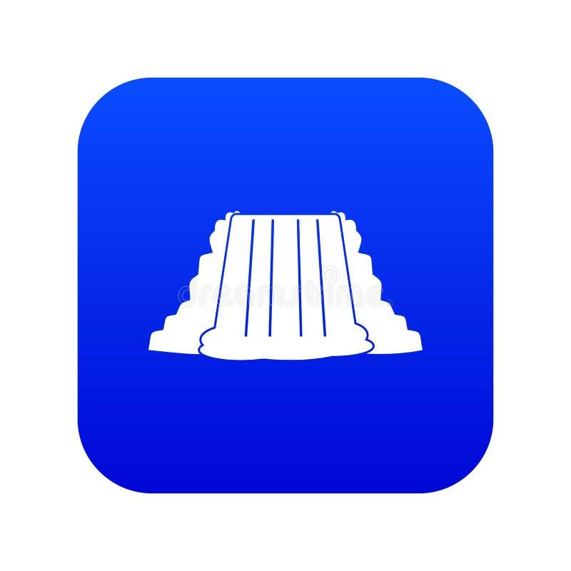 Blu digitale dell'icona di cascate del Niagara royalty illustrazione gratis