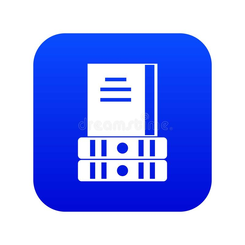 Blu digitale dell'icona di tre libri illustrazione vettoriale